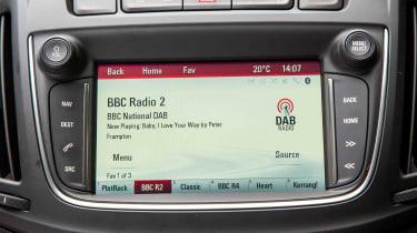 DAB digital radio is among the entertainment options