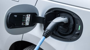 Range Rover Velar SUV charging flap