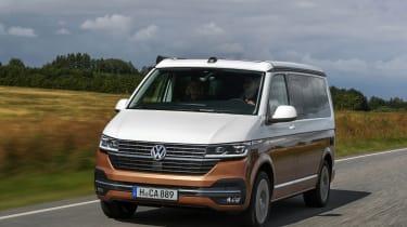 2019 Volkswagen California campervan - front 3/4 driving