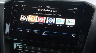 Volkswagen Passat GTE Estate DAB radio screen