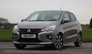 2020 Mitsubishi Mirage Design - front 3/4 view