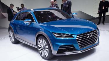 Audi Allroad Shooting Brake concept 2014 front quarter static