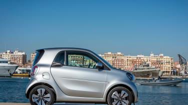 Smart EQ ForTwo hatchback side static marina