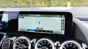 Mercedes EQA SUV review sat-nav