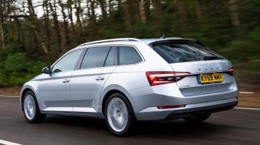 Skoda Superb Estate rear 3/4 tracking