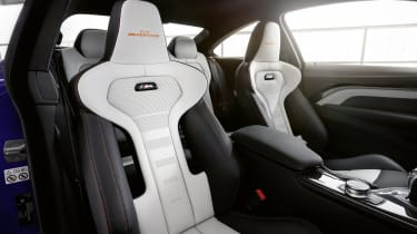 BMW M4 M Heritage Edition seats - white