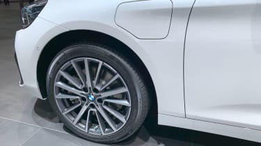 BMW 225xe wheel at the 2019 Geneva Motor Show