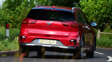 Kia Niro SUV rear cornering