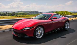 Ferrari Roma coupe front 3/4 tracking