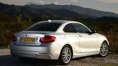 The BMW 2 Series has a class-leading 390-litre boot which is 30 litres bigger than the BMW 1 Series