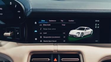 2020 Porsche Taycan - infotainment screen