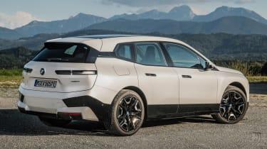 BMW iX SUV rear 3/4 static