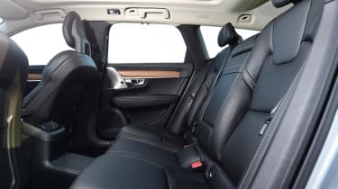 Rear-seat passengers have lots of space to stretch out