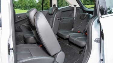 The middle row tilts forwards to allow access to the rearmost seats, which are best suited to children