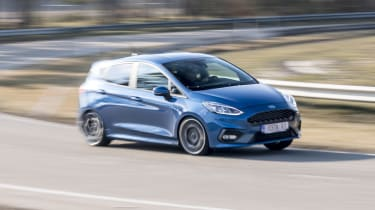 Sharp handling and huge grip make the Fiesta ST feel at home on twisty roads