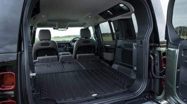 Land Rover Defender SUV boot seats folded