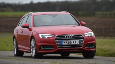 Audi A4 Avant - driving 3/4 view