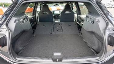 Cupra Born hatchback boot seats folded