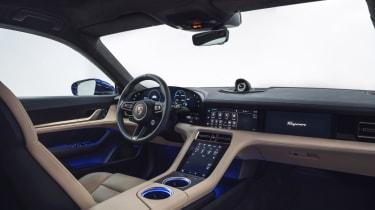 2020 Porsche Taycan - front interior angled