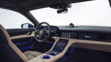 2020 Porsche Taycan - front interior angled