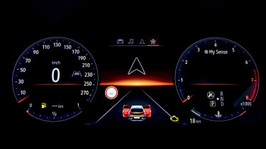 2020 Renault Captur - digital dial cluster