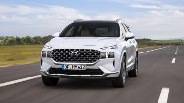 2020 Hyundai Santa Fe driving on road