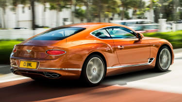 Bentley Continental GT V8 rear tracking
