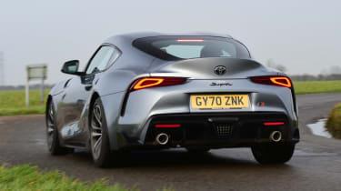 Toyota Supra rear 3/4 view dynamic