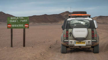 Land Rover Defender SUV off-road Africa
