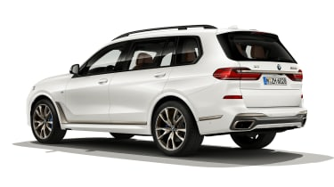 BMW X7 M50i rear view static