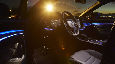 Volkswagen Touareg R interior at night - side view