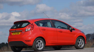 The Ford Fiesta isn't the most practical small hatchback, with a small boot and cramped rear seats.