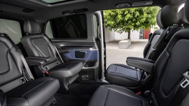 Mercedes EQV - rear cabin seating