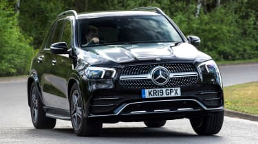 Mercedes GLE SUV front cornering