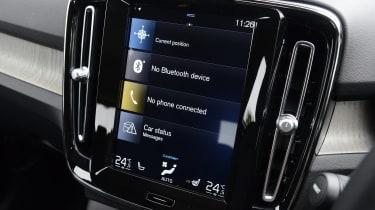 Volvo XC40 SUV Sensus infotainment display
