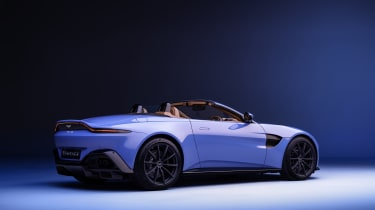 2020 Aston Martin Vantage Roadster - rear 3/4 view roof down