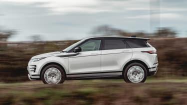 Range Rover Evoque SUV side panning