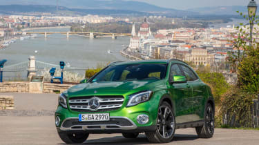 The Mercedes GLA is a crossover offering a stylish interior and a relaxing drive