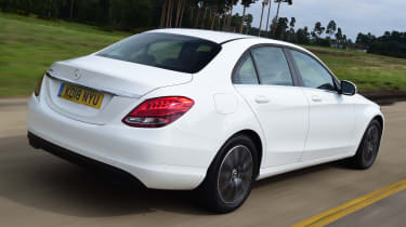 Mercedes C-Class saloon rear 3/4 tracking