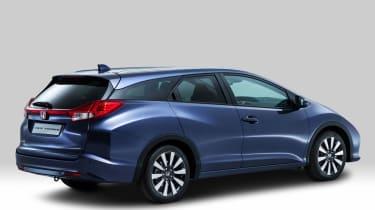 Honda Civic Tourer estate 2014 rear right static