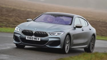 BMW 8 Series Gran Coupe saloon front cornering