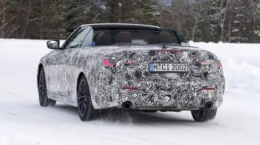 BMW 4 Series Convertible prototype - rear view