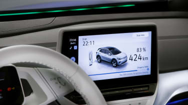 Volkswagen ID.4 SUV infotainment display