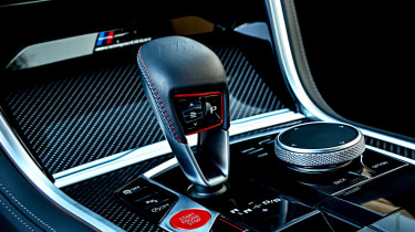 BMW M8 Competition coupe gear selector