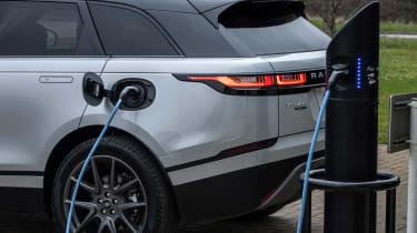 Range Rover Velar SUV charging