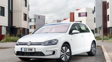 The e-Golf looks exactly like any other Golf on the road