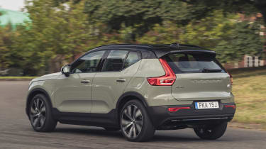 Volvo XC40 Recharge P8 SUV rear 3/4 static