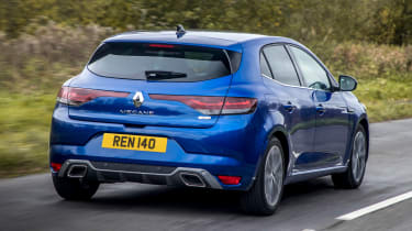 Renault Megane hatchback rear 3/4 tracking