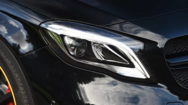 A facelift for the Mercedes GLA made LED headlights standard, boosting visibility