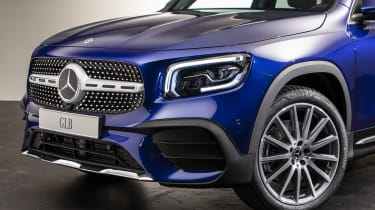 2019 Mercedes GLB - front 3/4 close up